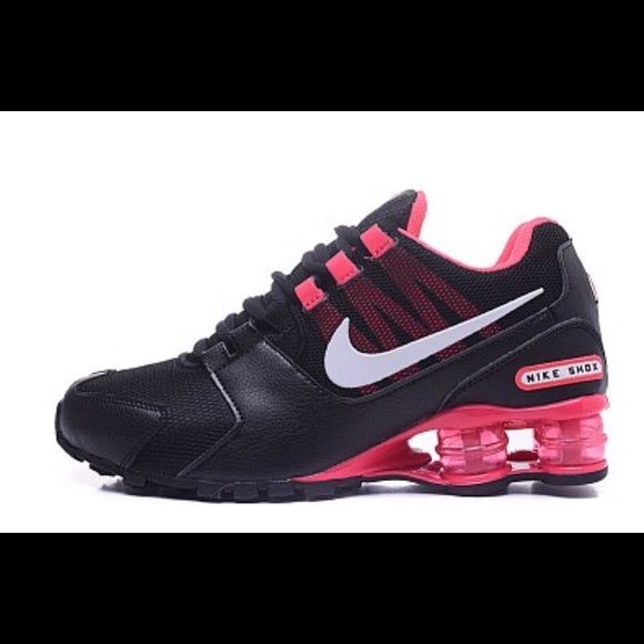 cheap for discount d6cc3 43f09 ... real womens nike black pink shox avenue running shoes.  m5ae203699a945528078adf47 3ed90 264c5